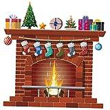 BYFRI Chimenea De Navidad Adhesivos De Pared De Bricolaje Home Decor Sala Etiqueta Mural Dormitorio Decoración Infantil del Papel Pintado del Diseño del Cartel De PVC
