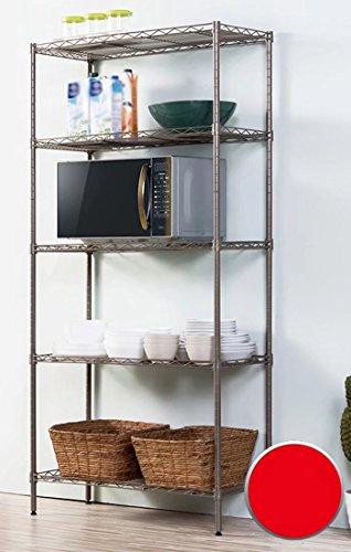 MAIKA HOME Support de Stockage de Chambre à Coucher/Supports de Cuisine/étagères de Stockage de Plancher de Balcon de Plancher en métal de Salon (Couleur: C)