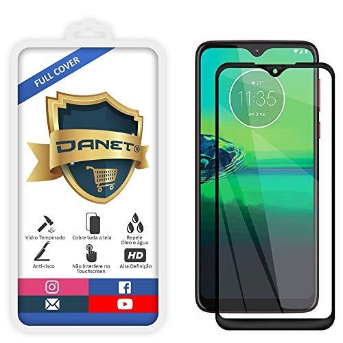 Película De Vidro Temperado 3D Full Cover Para Motorola Moto G8 Plus Com Tela De 6.3 - Proteção Blindada Top Premium Que Cobre Toda A Tela - Danet