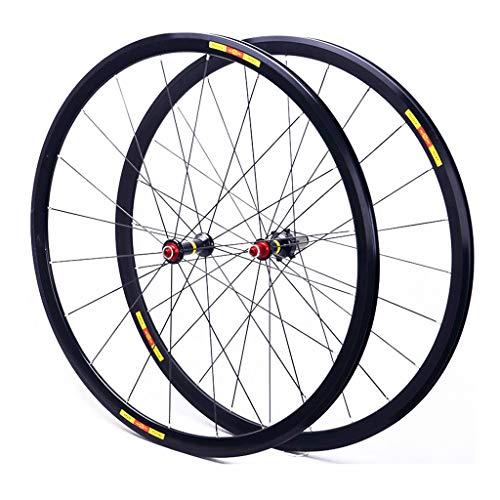 CHICTI Ruedas de ciclismo 700c, freno de rueda de disco de liberación rápida, rodamientos sellados Hub 24 agujeros 8/9/10/11 velocidad al aire libre