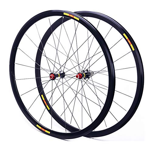 NS Ultraligero 700C Ruedas para Bicicleta, Double Wall V-Brake Carretera Ultra-Ligeras 24 Agujeros Pared MTB Rim para 8/9/10/11 Velocidad Borde