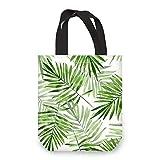 NymphFable Bolsa Lona Mujer Hoja Arbol Verde Reutilizables Ecológicas Bolsas para Comestibles Plegables Grande