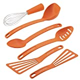 Rachael Ray Gadgets Utensil Kitchen Cooking Tools Set, 6 Piece, Orange
