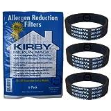 Original Kirby Filtros de Alérgenos HEPA - bolsas de filtro 6 + 3 Correas planas para G5 G6 G7 G8 G10 Sentria (204803 + 301291)