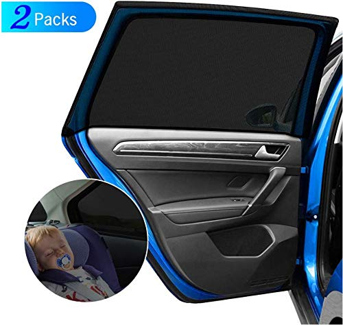 Stardom Car Side Window Sun Shade Large Baby Premium Breathable Mesh Sun Shield Protect Rectangular Window Easy Fit for Most of Cars (Size A)
