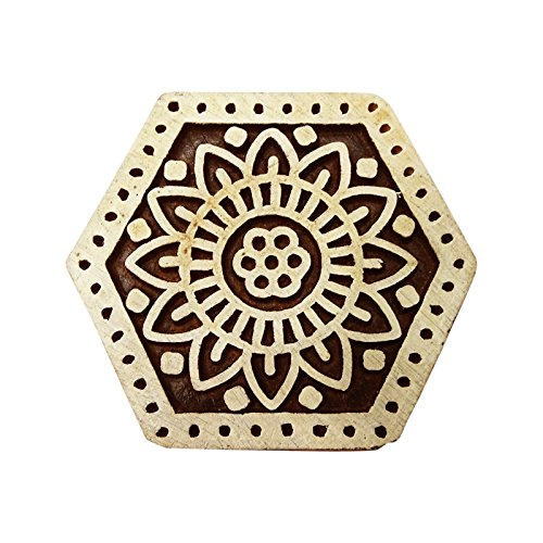 PEEGLI 1 Stück Elegante Hand Geschnitzten Hölzernen Druck Stempel Braun Blumen Entwurf DIY Handwerk Indischen Textile Sammelalbum Klotz Briefmarken