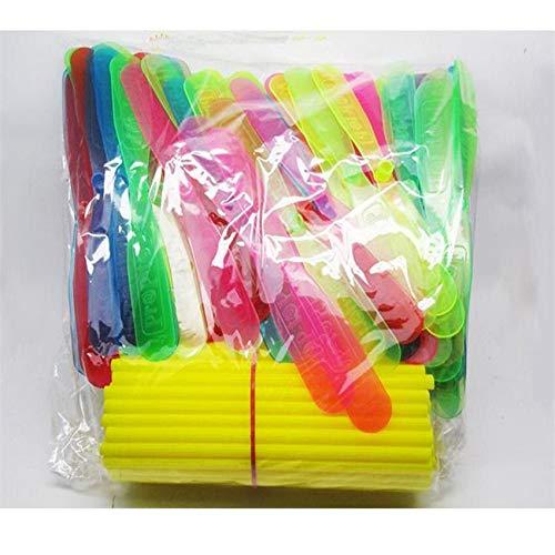 10 piezas de plástico de bambú de libélula hélice para bebés y niños, juguete al aire libre, tradición clásica nostálgica juguetes flechas voladoras (color multicolor)