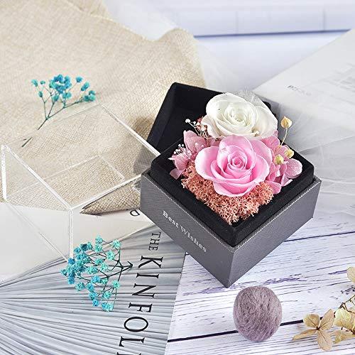 VUENICEE Rosa Eterna,Fiori conservati Fatti a Mano Rosa eterna, Rosa Regalo per Festa della Mamma, San Valentino, Anniversario di Matrimonio, Compleanno, Anniversario.