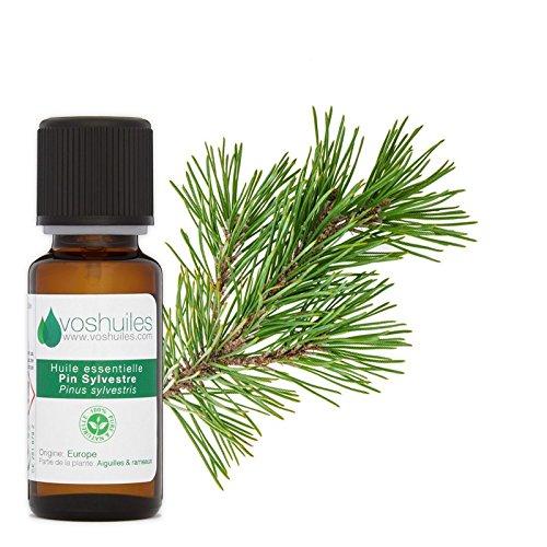 Huile Essentielle de Pin Sylvestre - 100% Pure et Naturelle - HEBBD - Parfum Frais et Forestier pour la Maison - Idéal pour Diffuseur - 20 ml - Aromathérapie - VOSHUILES