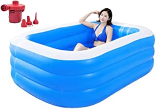 Baby Shower Foldable Adult Inflatable Bathtub Portable Children's Pool Large Plastic Bath Bucket With Air Pump (Color : Bl...