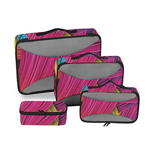 Abstract Home Decor 4pcs Toiletry Bag for Women Large Cosmetic Bag with Handle Travel Toiletry Organizer for Men and Women