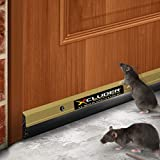 Xcluder 48-inch Residential Rodent Proof Door Sweep, Gold; Guaranteed to Stop Mice, Rats and Drafts