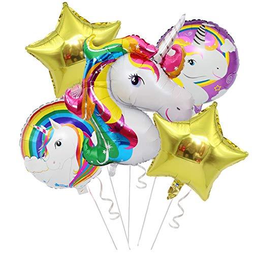 Lapeno Einhorn Party Supplies Dekorationen mit Einhorn Ballons, Glücklich Geburtstag Banner für...