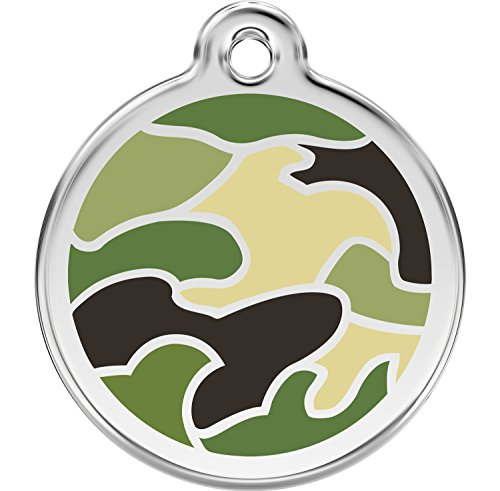 Red Dingo Personalized Camouflage Green Pet ID Dog Tag (Medium)