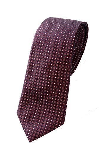 Emporio Armani Herren Krawatte 100% Seide (Burgundy)