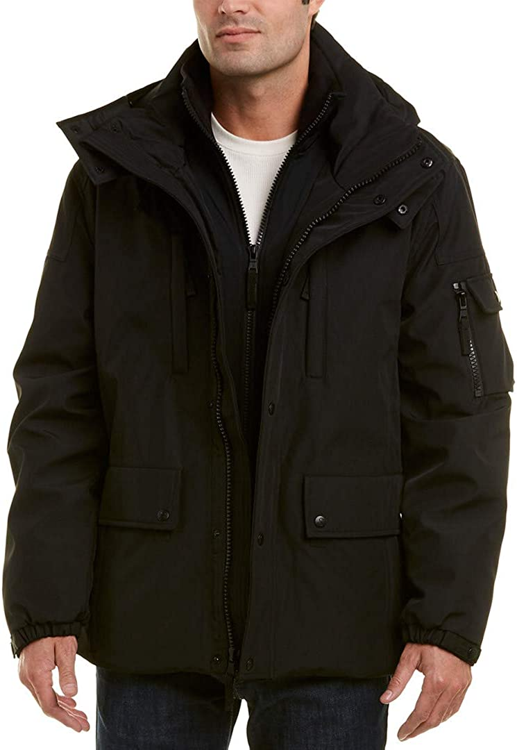 S13 2021 autumn and winter new Men's Highland Bonded Jacket Hood Fashion Removable with