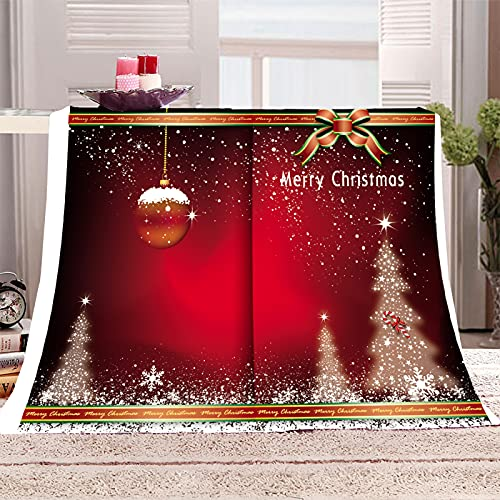 KLily Mantas De Año Nuevo, Mantas De Papá Noel para El Hogar, Mantas De Aire Acondicionado para La Siesta del Dormitorio, Universales En Todas Las Estaciones