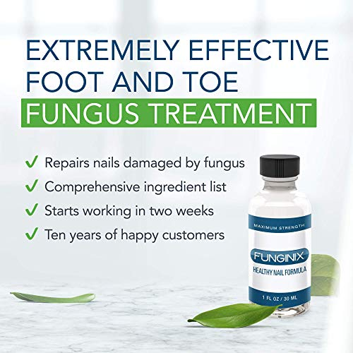 FUNGINIX Finger and Toe Fungus Treatment - Maximum Strength Solution, Eliminate Fungal Infections, Powerful &...