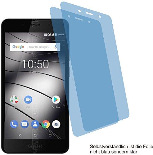 4ProTec I 2X Crystal Clear klar Schutzfolie für Gigaset GS180 Bildschirmschutzfolie Displayschutzfolie Schutzhülle Bildschirmschutz Bildschirmfolie Folie