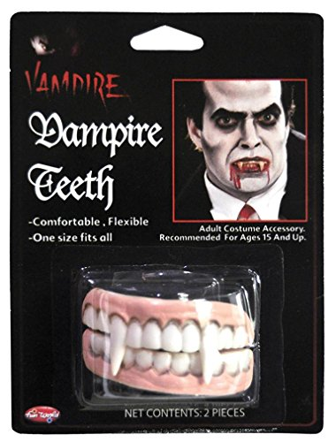 Dents de vampire pour adultes - Dentier Halloween - Deguisement Twilight