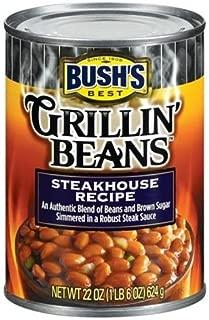 Bush's Grillin Steakhouse Beans, 22-Ounce (Pack of 6)