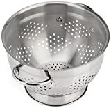 Raishi Stainless Steel Colander for Easy Cleaning - 5 Quart Restaurant Quality Grade Guarantee. Best Metal Colander