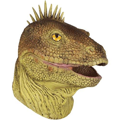 Loftus International Loftus Halloween Lizard Costume Full Head Mask, Green Brown, One Size Novelty Item