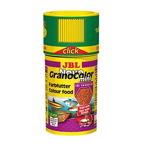 JBL NovoGranoColor 30098 Alleinfutter für kleine farbenprächtige Aquarienfische, Granulat 100 ml