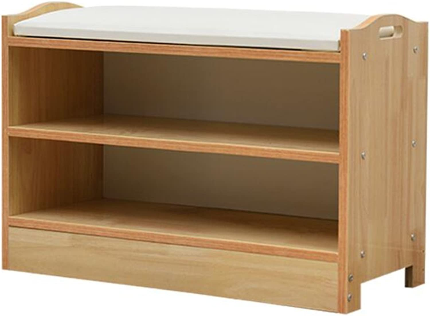 Solid Wood shoes Bench shoes Cabinet Storage Stool Multifunctional lockers Door shoes shoes Bench Double Storage Stool (Size   60  30  46.5cm)
