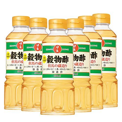 日の出 穀物酢 但馬の蔵造り 醸造酢 小麦粉不使用 400ml (6本)