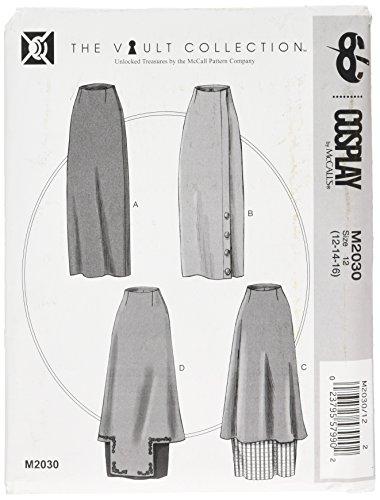 Cosplay By McCall's Cosplay M2030 12, verhoogde taille rokken, maten 12-16, Multi/kleur
