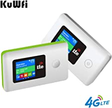 Portable Mobile WiFi Router, 100Mbps High Speed Mobile 4G LTE CPE Unlocks Wireless Travel Router with SIM Card Slot Supports FDD LTE B2 / B4 / B5 / B7 (US Version)