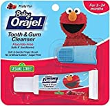 Orajel Baby Elmo Tooth and Gum Cleanser with Finger Brush, Fruity Fun, 0.7 Oz - Pack of 5