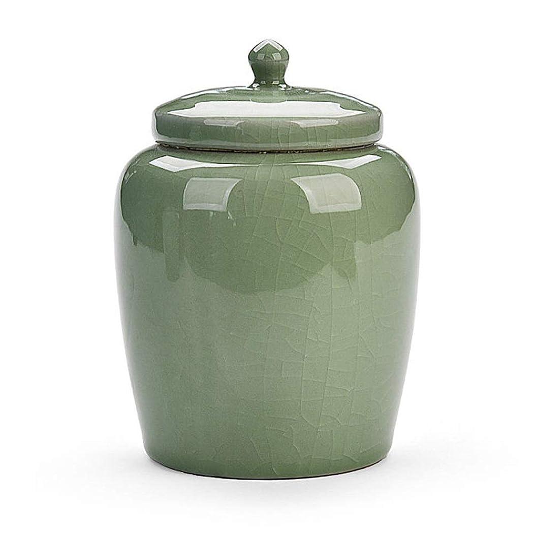 男らしいガス距離ミニ骨壷 葬儀の壷の火葬壷子供とペットの壷陶磁器の灰は湿気の埋葬の壷に対して密封されています (Color : Green, Size : 10.5cm*10.5cm)