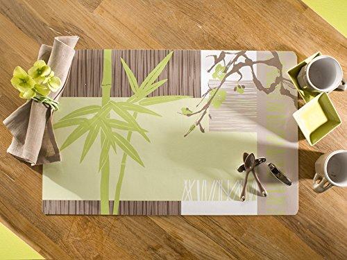 CALITEX Bien Etre, PVC, Vert, 44x28 cm