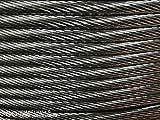 Cable de alambre de acero A4, rígido, 10 m, 1 x 19 hilos, acero inoxidable V4A/Aisi 316/A4, calidad de la cuerda 1570 N/mm² (10 m como trazo) (4 mm)
