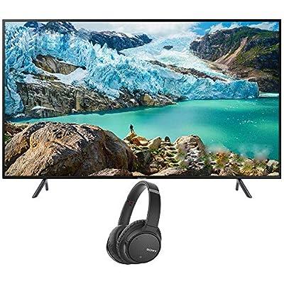Samsung UN58RU7100 58-inch RU7100 LED Smart 4K UHD TV (2019) Bundle with Sony WHCH700N/B Wireless Noise Canceling Bluetooth Headphones, Black