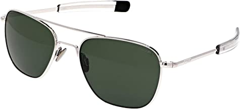 Randolph Engineering White Gold AVIATOR Sunglasses | AGX PolarizedAR/Bayonet Temples