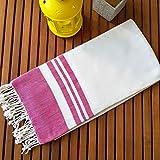Secret Sea Collection Lightweight Turkish Peshtemal Towel %100 Bamboo 70'' x 35''  (Cupcake Pink)