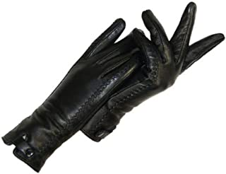 Houer 1Pair Adult///Long Latex Gloves Guanti Lunghi in Pelle Nera da Donna in Ecopelle
