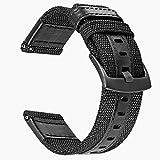 TRUMiRR 24mm Bracelet en Nylon tissé à libération Rapide Bracelet en Cuir véritable pour Smartwatch 2 SW2, Suunto...