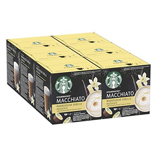 STARBUCKS Vanilla Latte Macchiato de Nescafe Dolce Gusto Cápsulas de Café, 6 x caja de 12 unidades