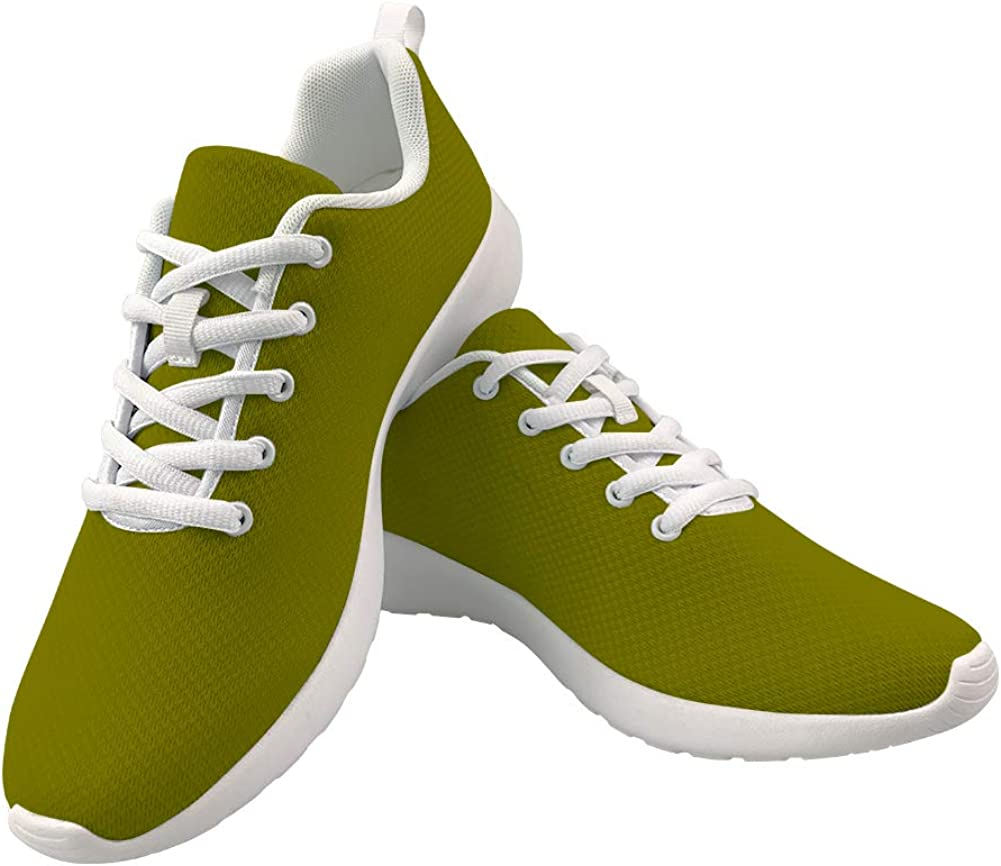 Army Green Walking Shoes for Women Solid Color Fashion Sneakers Running Sport Shoes Teen Girls Outdoor Walk Shoes