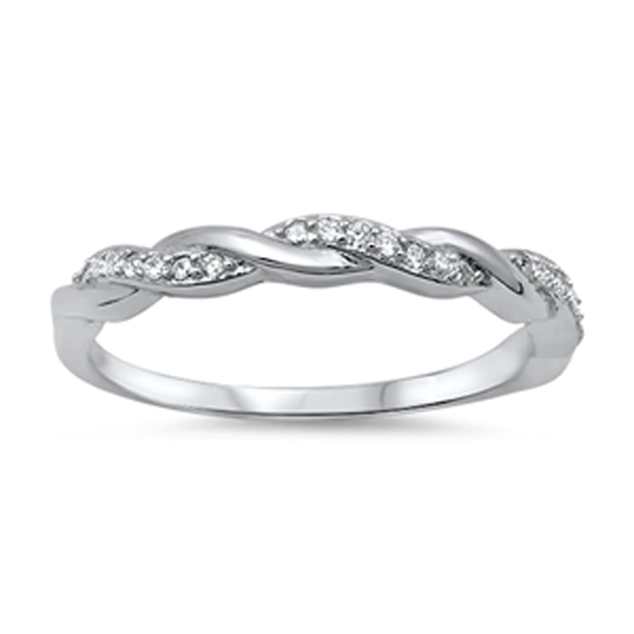 CHOOSE YOUR COLOR Sterling Silver Infinity Knot Ring