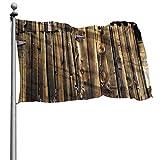 花園旗flagJHWBDA 庭の旗Oak Barn Siding Door Cracked Rusted Hinges ハロウィン メリークリスマス庭の旗 庭の旗ハッピーハロウィン家の装飾 One Size インチ祭りガーデン両面ハウスフラグOne Size