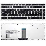 Teclado para computadora portátil Nuevo teclado de computadora portátil en inglés negro de EE. UU. (Con marco plateado) Reemplazo para Lenovo B41-30 B41-35 B41-80 M41-80 Z41-70 B40-30 B40-45 B40-70 B4