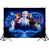 Frozen Backdrop for Girls Birthday Party,5 x 3ft Elsa Photography Background Vinyl Wall Decorations Supplies for Kids Boys Toddlers