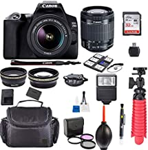 Canon EOS 250D / Rebel SL3 Kit with EF-S 18-55mm f/3.5-5.6 III Lens + Accessory Bundle + Model Electronics Cloth
