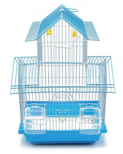 BPS Gabbia Bird Cage Metallo con Alimentatore Bevitore Swing Hopper Bucket 2 Taglie M/L Colore Spedito a Caso (M: 30 x 23 x 47 cm) BPS-1207