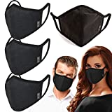 4Pack Unisex Cloth Washable Reusable Mask Cotton 3-Layer Warm cloth Cover